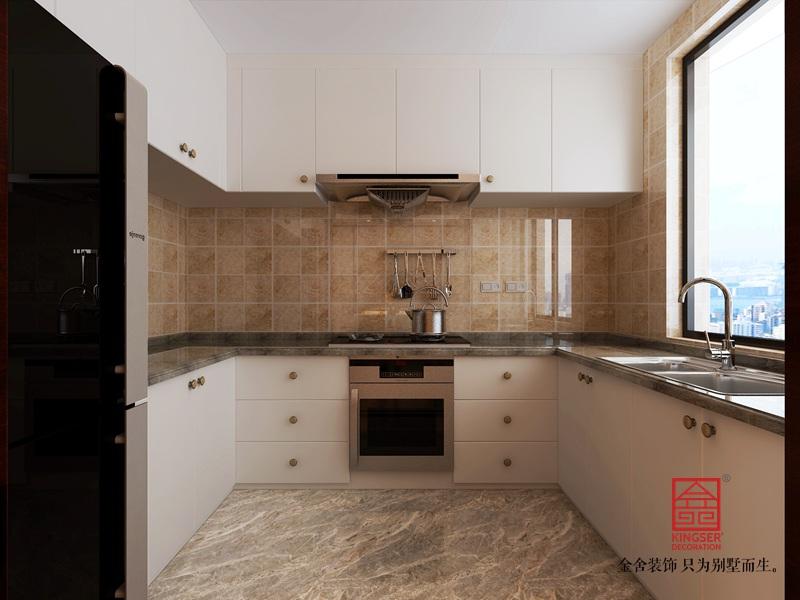融创中心125平米-新中式装修-厨房
