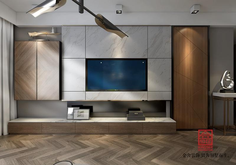 维多利亚三期156平米装修-客厅