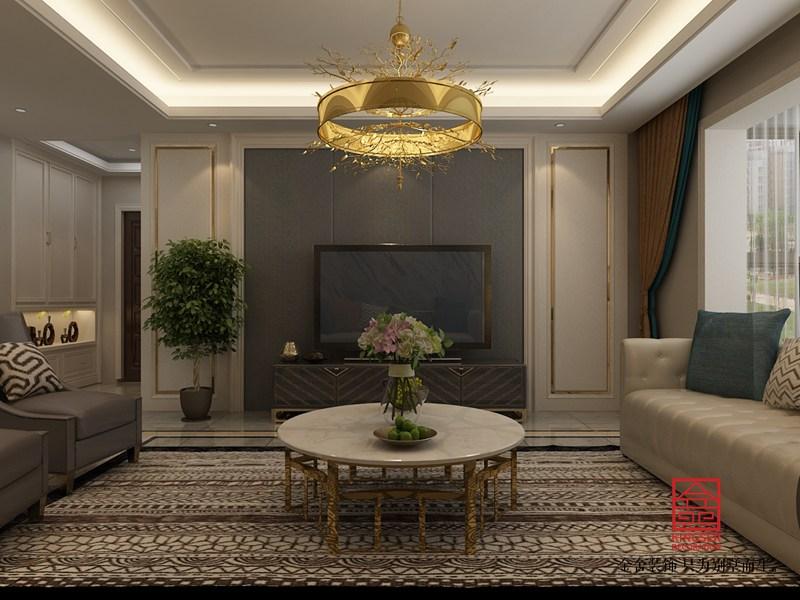 维多利亚136平米装修-现代简约-客厅