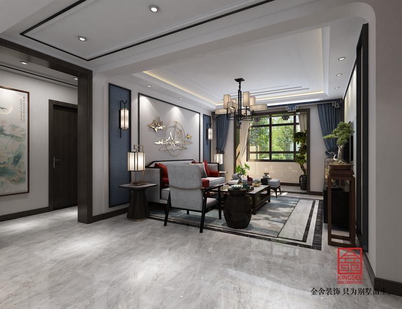维多利亚122平米装修-新中式风格-客厅