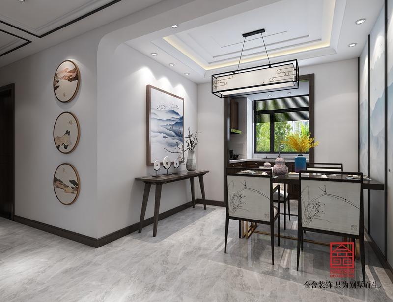 维多利亚122平米装修-新中式风格-餐厅
