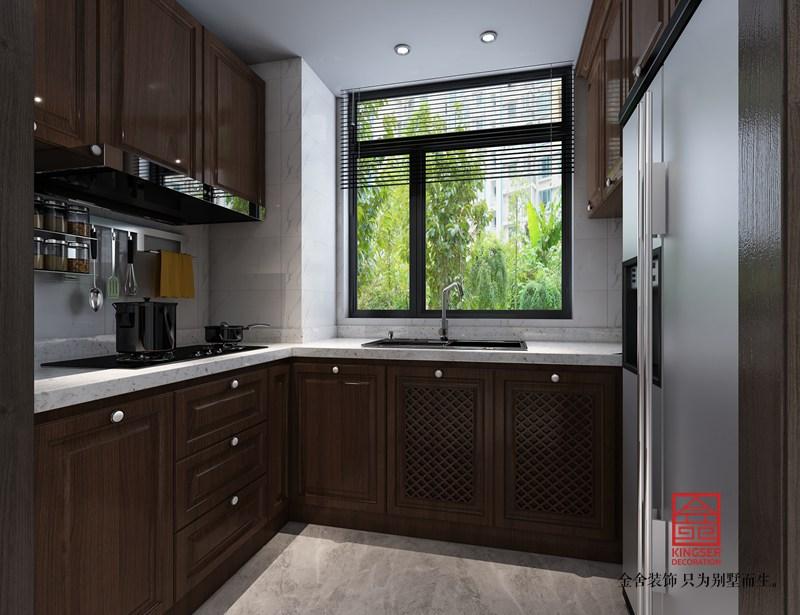 维多利亚122平米装修-新中式风格-厨房
