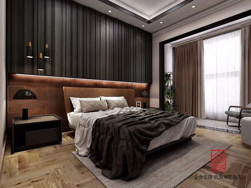 融创中心180平米装修-港式风格-卧室