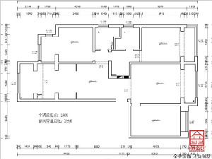 融创中心180平米装修拆改方案