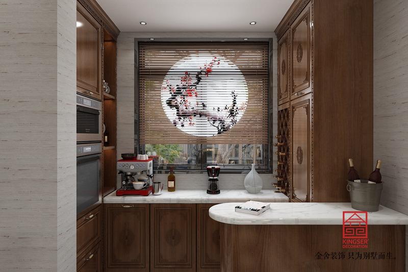 东南智汇城132平米装修-中式风格-厨房
