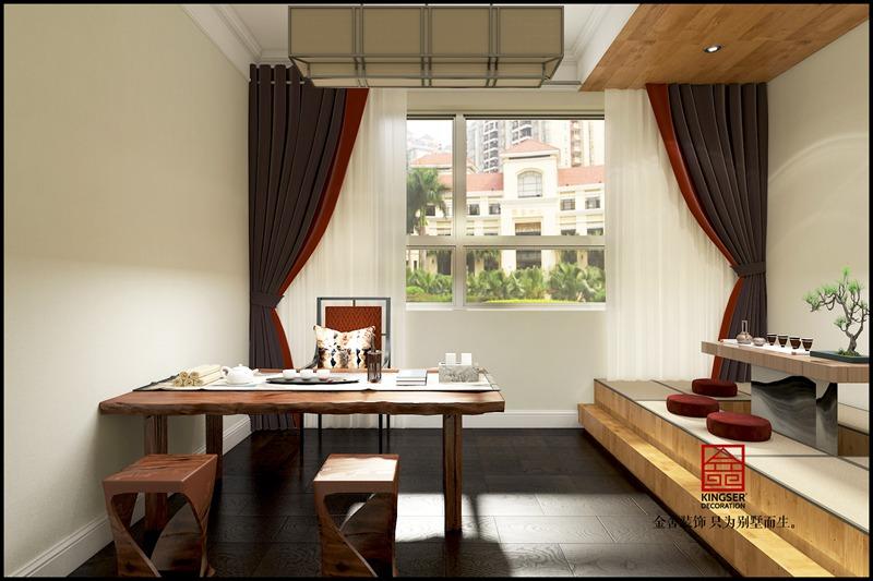 金悦府220平米新中式装修效果-卧室