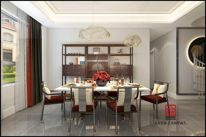 金悦府220平米新中式装修效果-餐厅