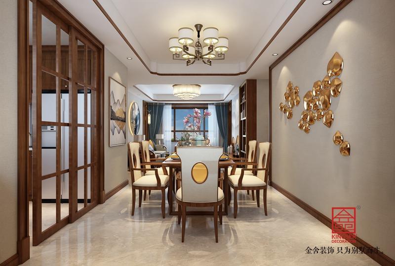 东南智汇城156平米装修-中式风格-餐厅