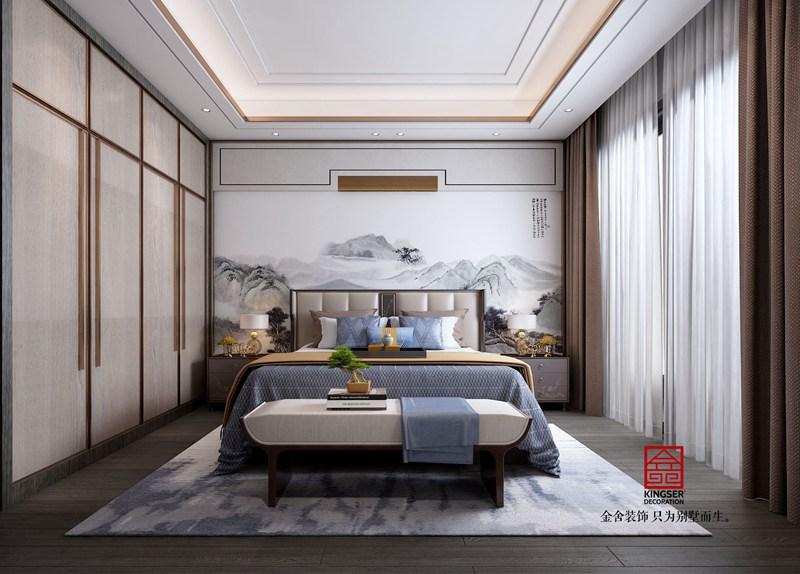 龙湖天宸原著200平中式装修图-卧室