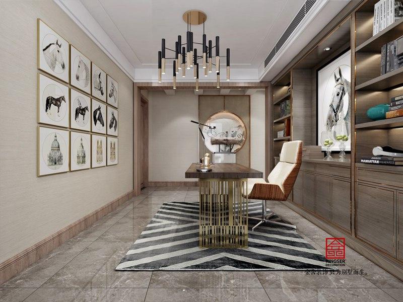 龙湖天宸原著200平中式装修图-书房