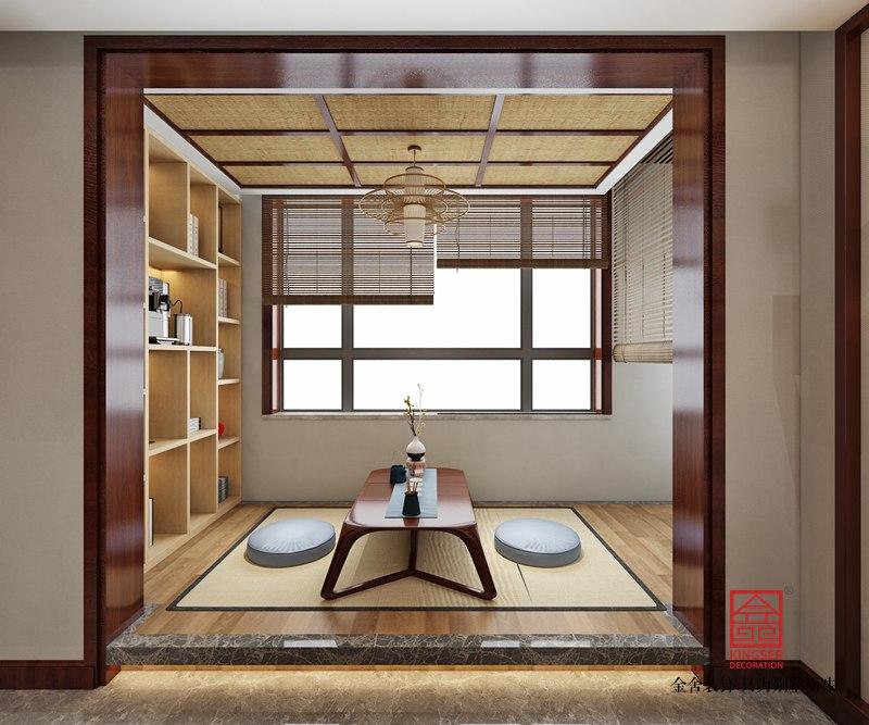 东南智汇城132平米装修-新中式风格-茶室