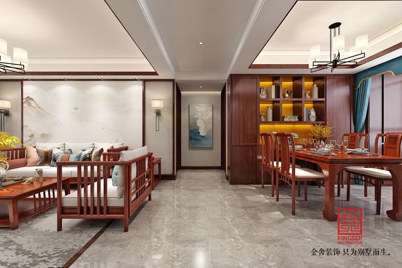 东南智汇城132平装修-新中式风格-餐厅