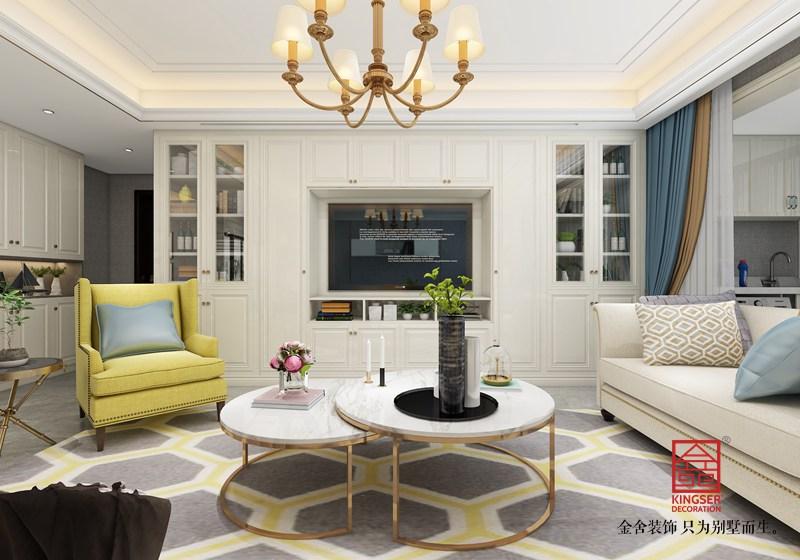 东南智汇城装修-美式风格-客厅