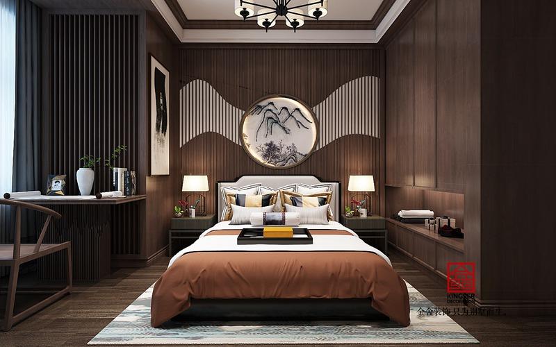 金悦府220平米新中式装修-卧室