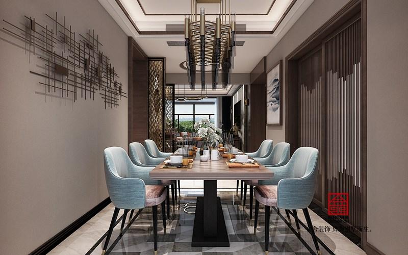 金悦府220平米新中式装修-餐厅