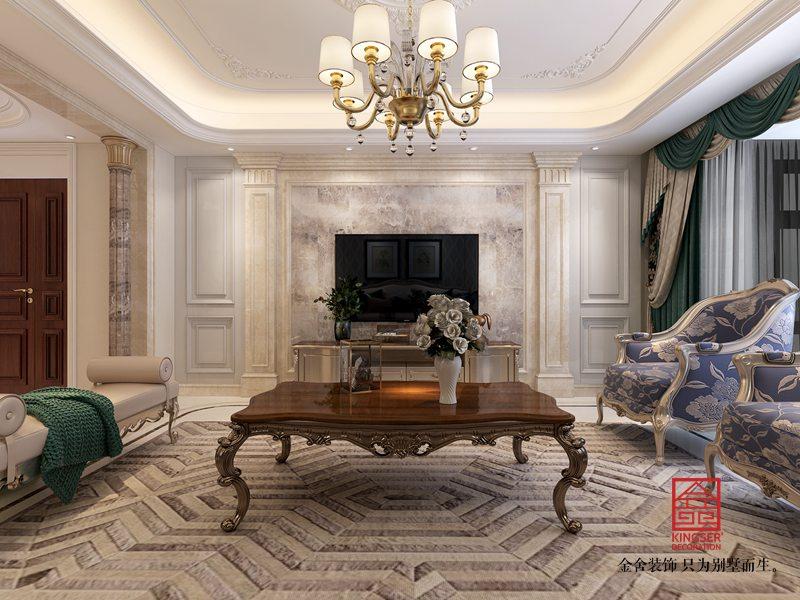 东南智汇城191平米装修-欧式风格-客厅