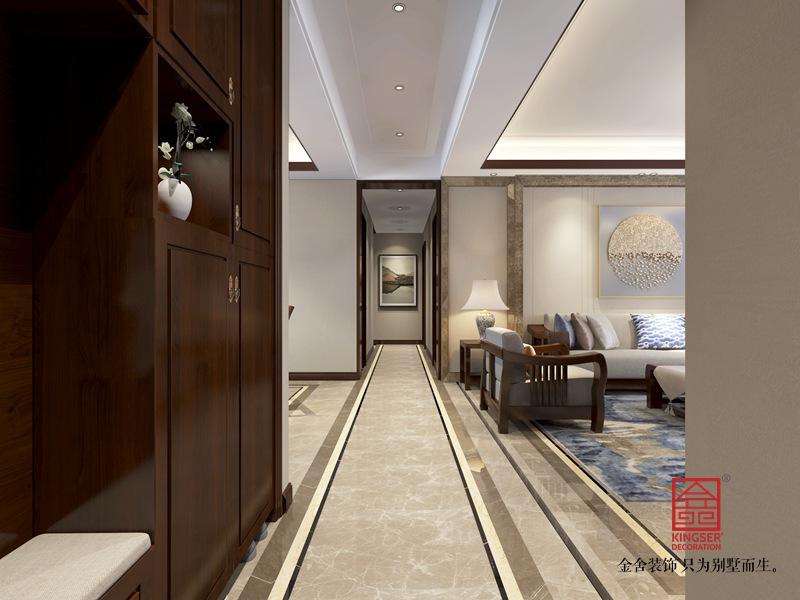 东南智汇城170平米中式风格装修-玄关