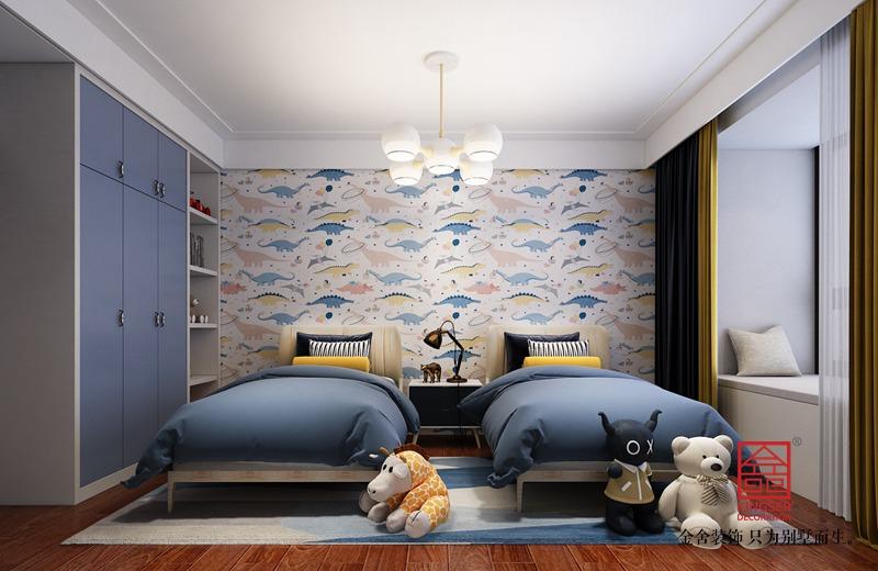 东南智汇城170平米中式风格装修-儿童房