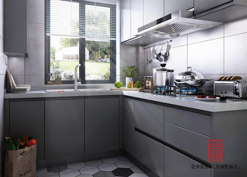 荣逸院子119平米装修-现代风格-厨房
