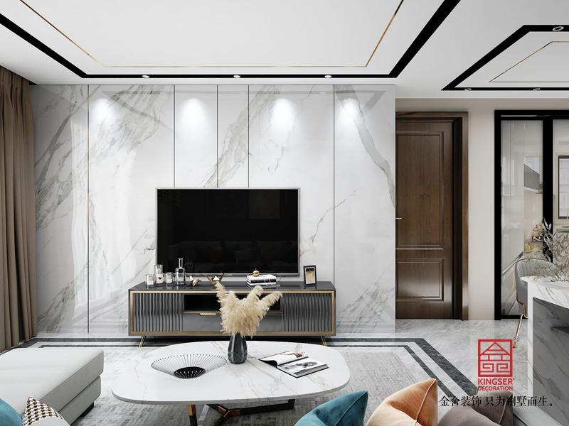 荣逸院子119平米装修-现代风格-客厅