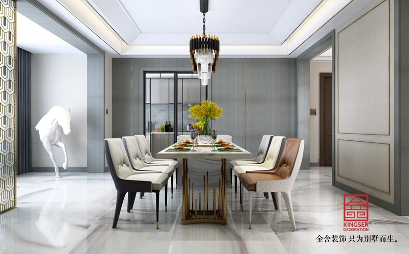 荣盛华府198平米装修-轻奢风格-餐厅