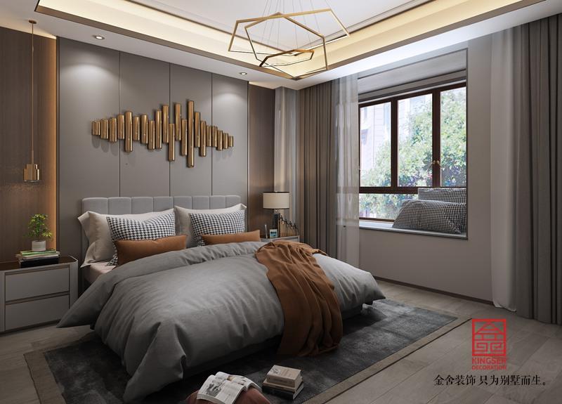 荣盛华府220平米装修-现代简约风格-卧室