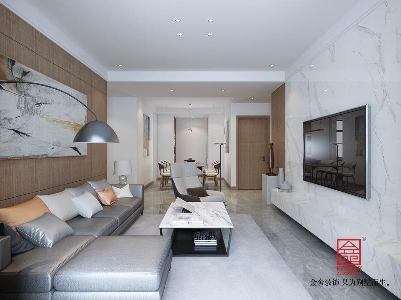 大者140平米装修-现代风格-客厅