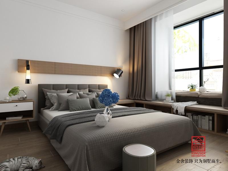 大者140平米装修-现代风格-卧室