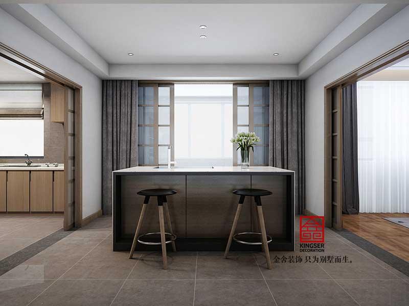 御河上院206平米北欧风格装修-餐厅