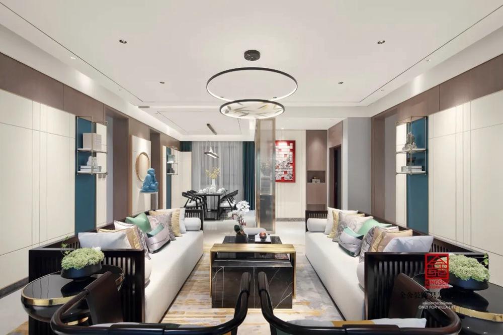 亨伦观唐名邸139平米新中式装修-餐厅