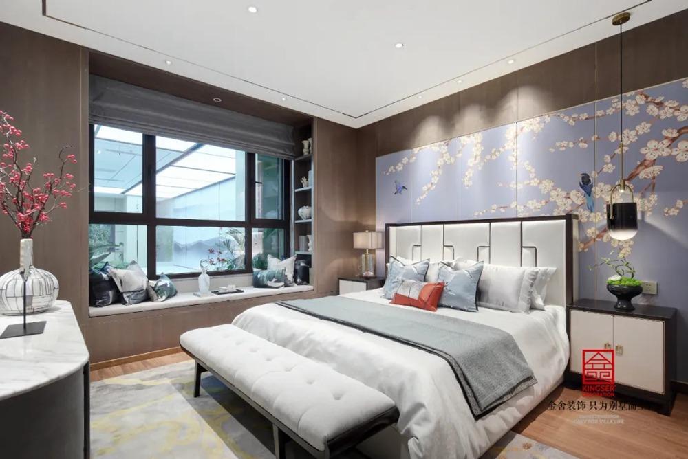 亨伦观唐名邸139平米新中式装修-卧室