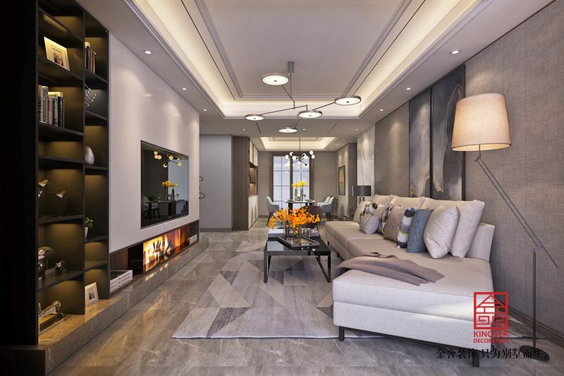 东南智汇城142平米装修-现代简约-客厅