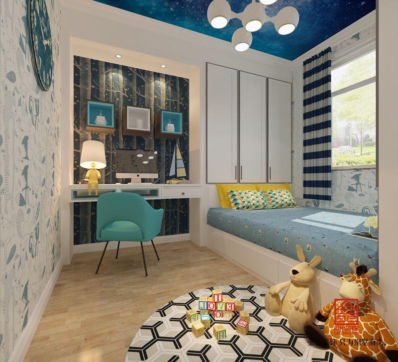 保利拉菲公馆172平米装修-新中式风格-儿童房