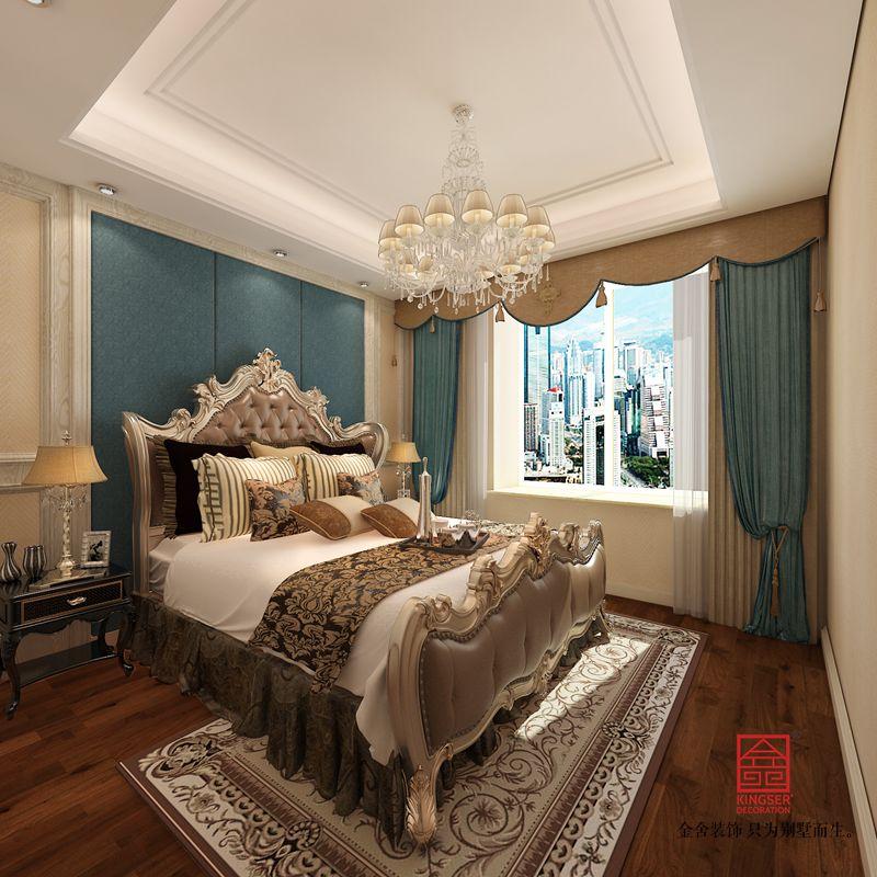中冶德贤公馆123平米装修-混搭风格-卧室