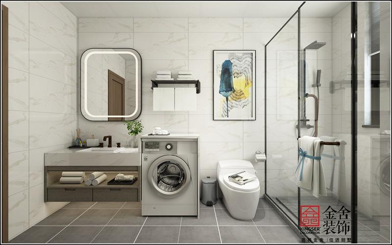 大者四期160平米轻奢风格装修-卫生间