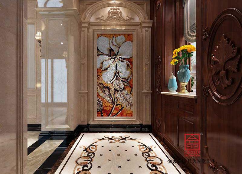 西山林语303平米美式风格装修-玄关