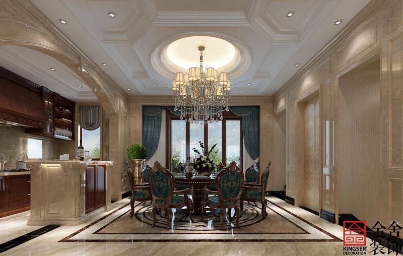 西山林语303平米美式风格装修-餐厅