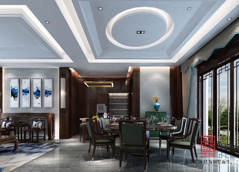 西山林语303平米中式风格装修-客厅