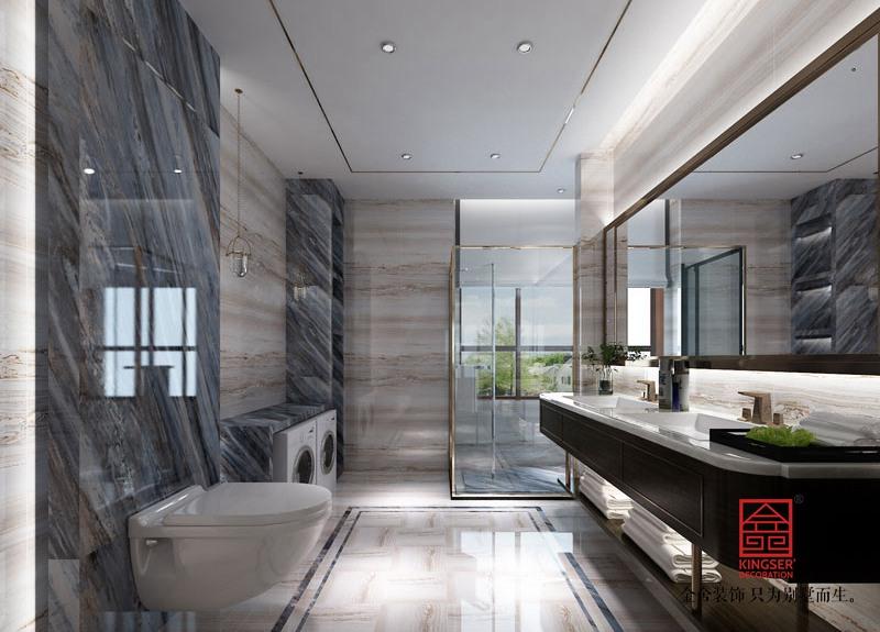 西山林语303平米中式风格装修-卫生间