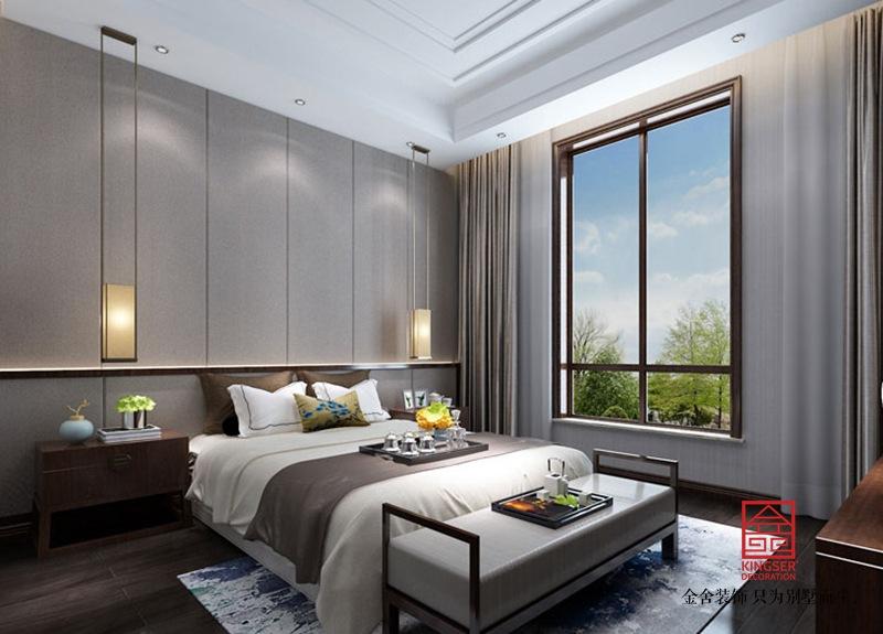 西山林语303平米中式风格装修-卧室
