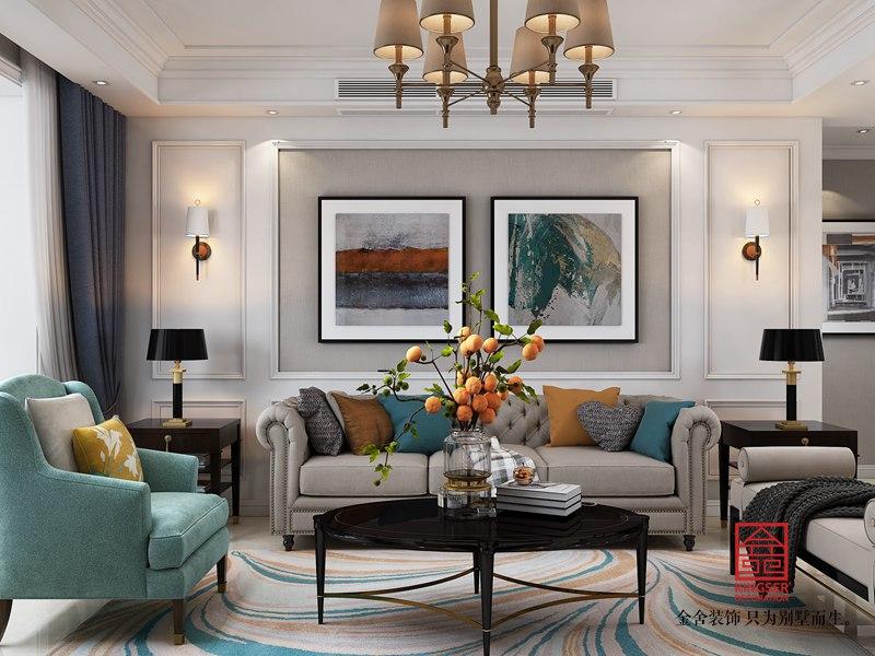 维多利亚135平米装修-简美风格-客厅