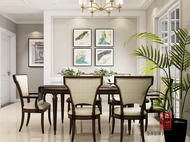 维多利亚135平米装修-简美风格-餐厅