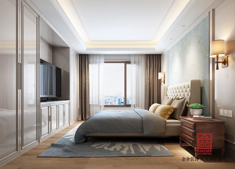 维多利亚166平米美式风格装修-卧室