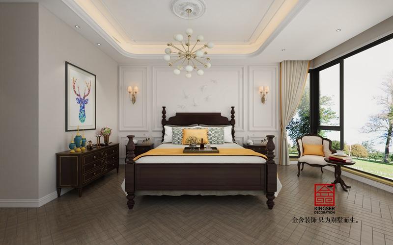 融创中心155平新古典风格装修设计-卧室