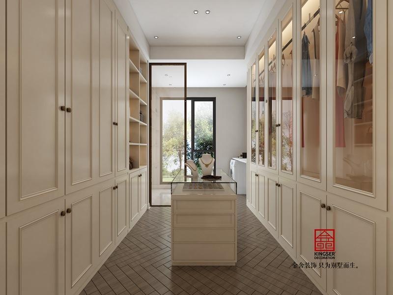 融创中心155平新古典风格装修设计-衣帽间