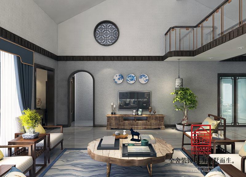 大者180平米新中式风格装修-客厅
