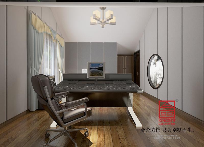 大者180平米新中式风格装修-书房