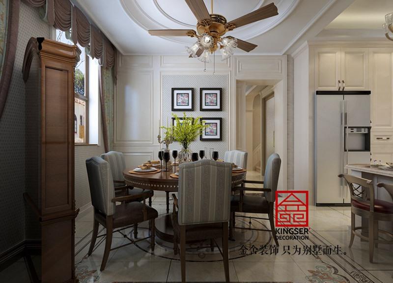 大者别墅300平米装修-美式风格-餐厅