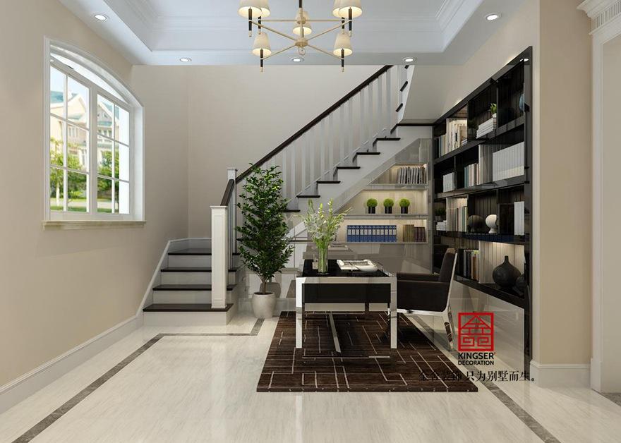 原河名墅500平米装修-法式风格-楼梯