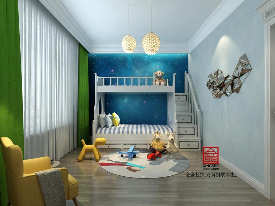 原河名墅500平米装修-法式风格-儿童房
